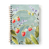 Spiral-bound notebook in wild strawberries