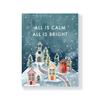 All is calm little village card