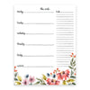 Wild Garden Weekly Desk Pad