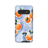 Samsung Galaxy case in orange blossoms