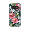 Samsung Galaxy case in teal and peonies