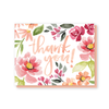 Thank you! card in Mallory's coral and peach flowers