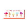 Ice cream cones Happy birthday card