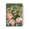 Spiral-bound notebook in garden roses