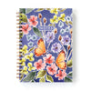 Spiral-bound notebook in ultraviolet and butterflies