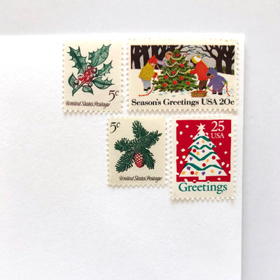 Vintage holiday postage kit