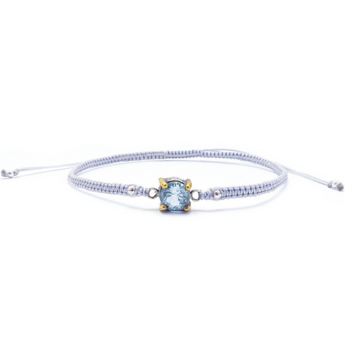 Swiss Blue Topaz Friendship Bracelet (Adjustable)