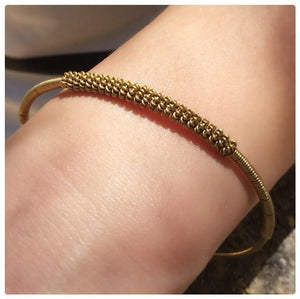 Thai Brass Bangle Bracelet