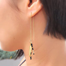 Feathered Threader Earrings (White)