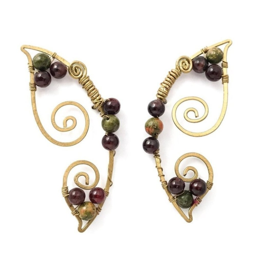 Brilliant Butterfly Earrings (Jasper/Garnet)