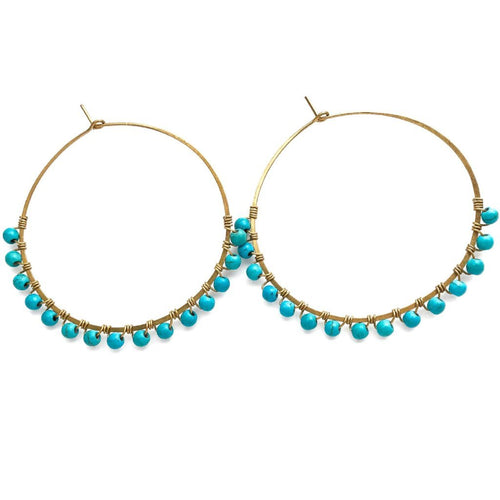 Phat Hoop Earrings (Turquiose)