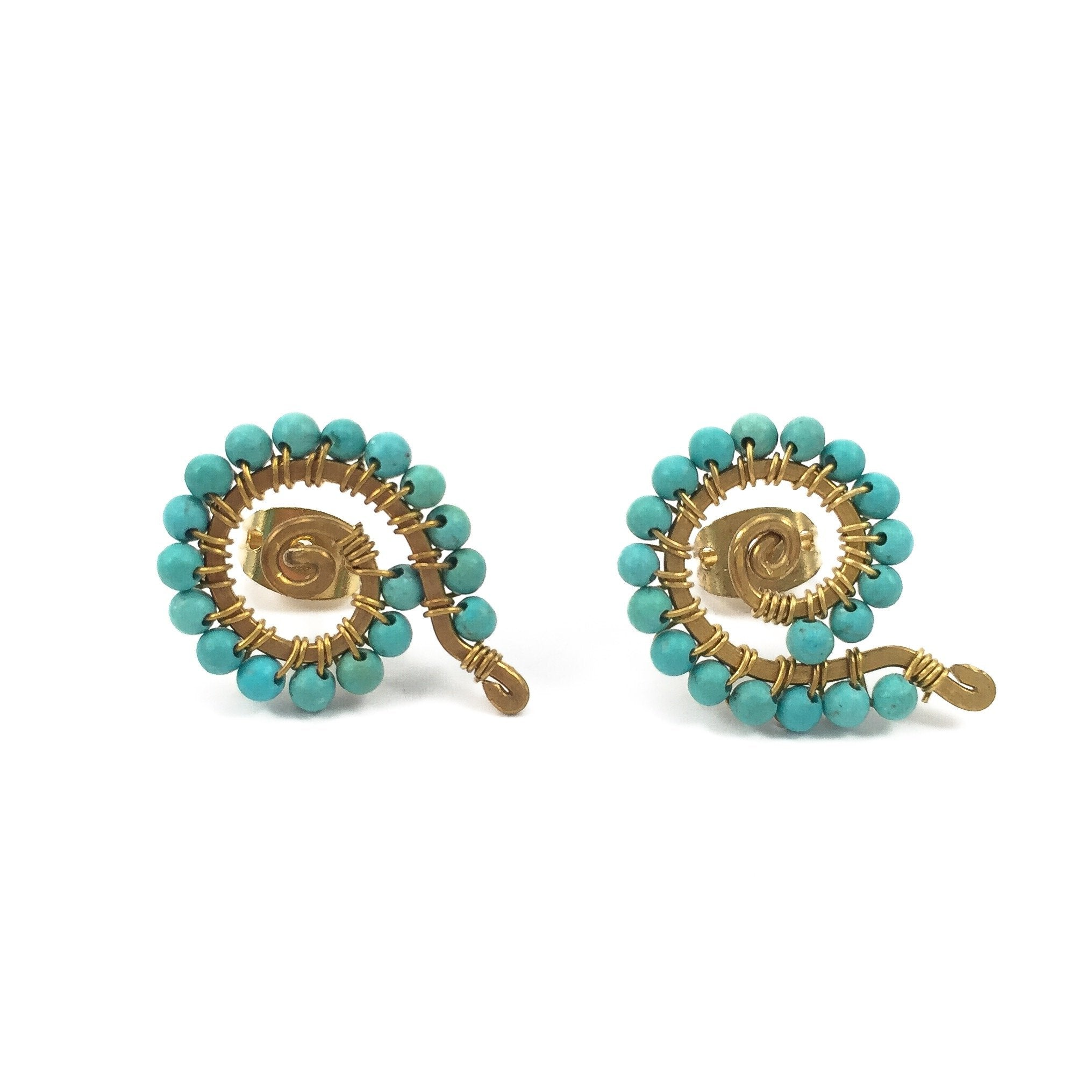 oliver jewellery turquoise stud taryn bar earrings bonas gold