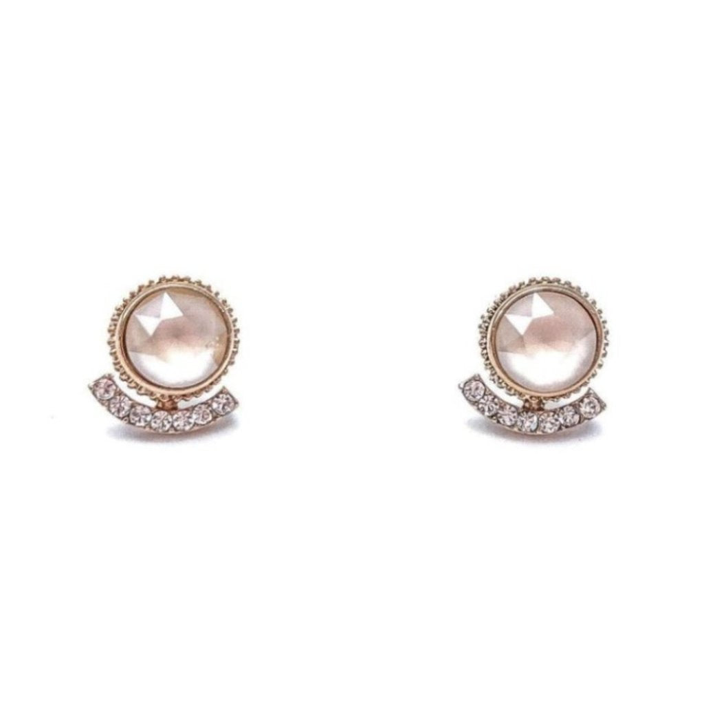 of pretty gold luxury earrings stud elegant amazon round tiny chuyun bijoux simple
