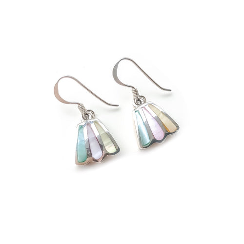 Hanging Bellflower Earrings (Red Yellow Green)