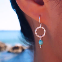 Hexagon Turquoise Drop Earrings