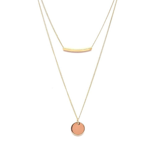 Elegant Gold Layer Necklace