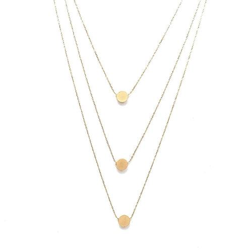 Layer It Up Necklace (Gold Rhodium w/ Circles)