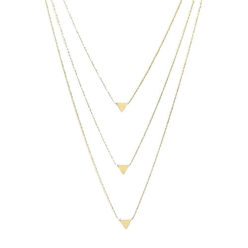 Layer It Up Necklace (Gold Rhodium w/ Triangles)