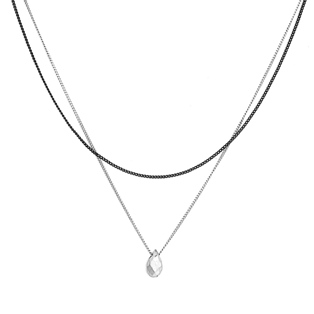 Two Toned Raindrop Layer Necklace