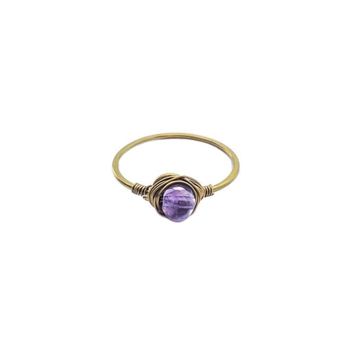 Precious Gem Ring (Gold/Amethyst)