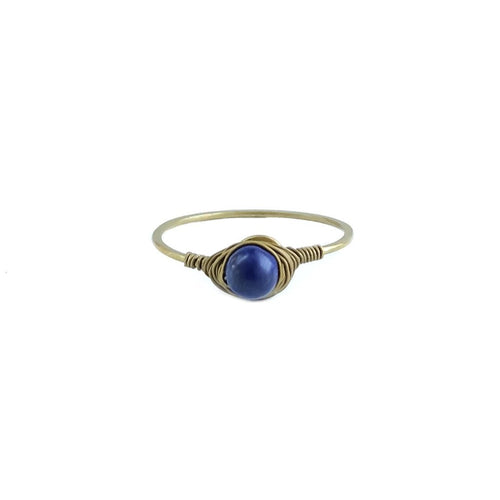 Precious Gem Ring (Gold/Lapis)