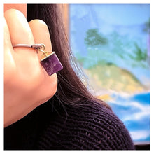 Amethyst Dangle Ring