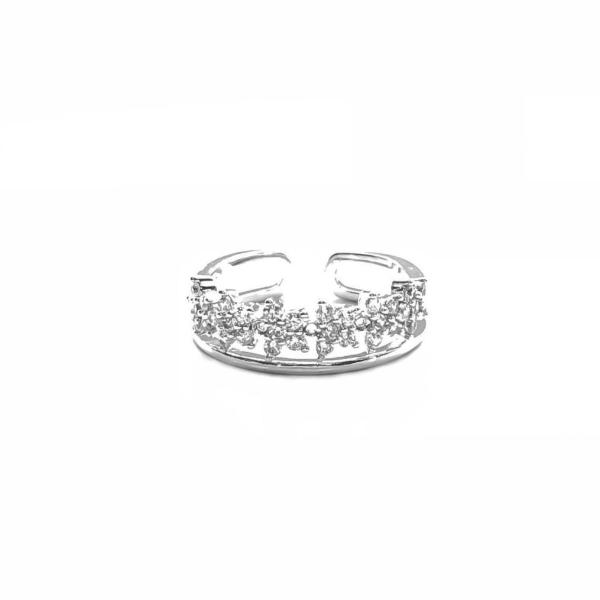 Double Band Flower Ring