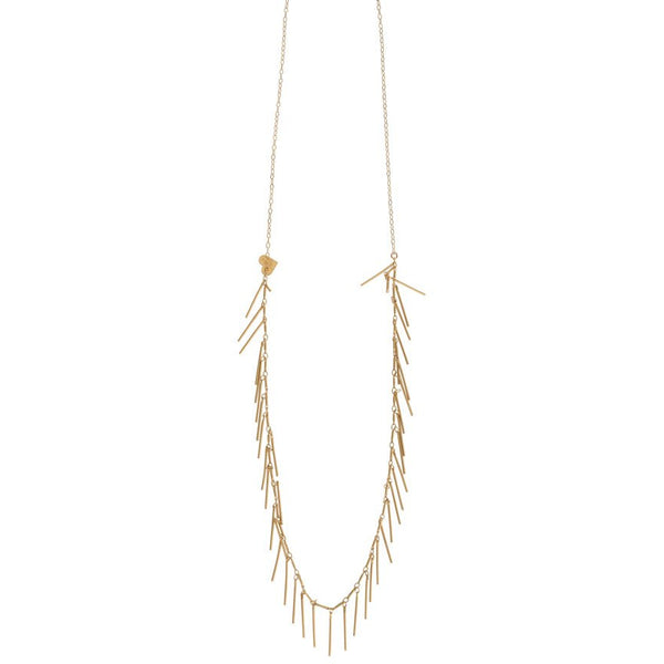 Long Fringe Layering Necklace