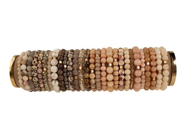 Simple Beaded Stretch Bracelet