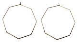 Endless Hexagon Hoop Earring