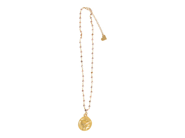 Short Rosary Coin Necklace