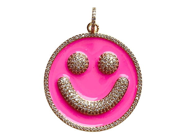 Charm Attachment- Smile- Pink