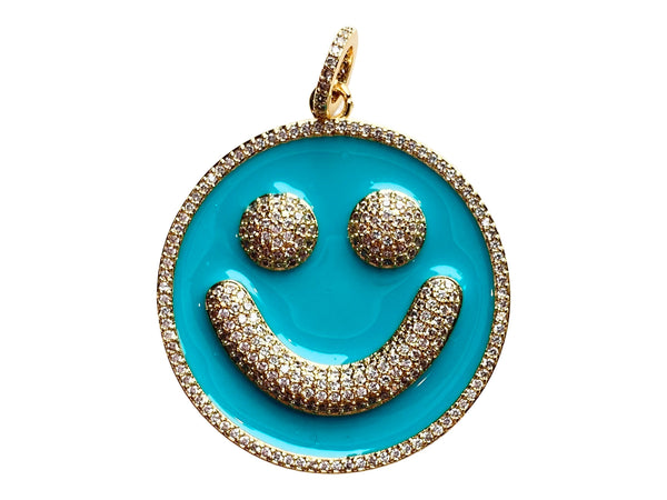 Charm Attachment- Smile- Turquoise