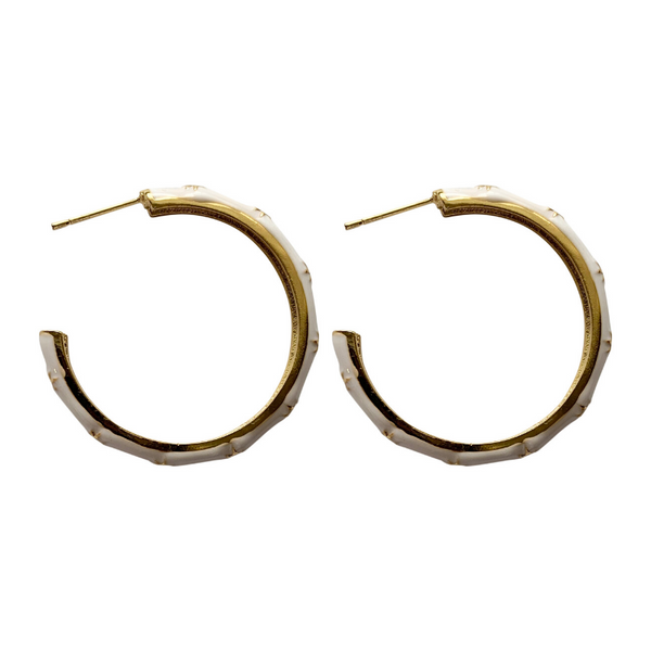 enamel hoops - white
