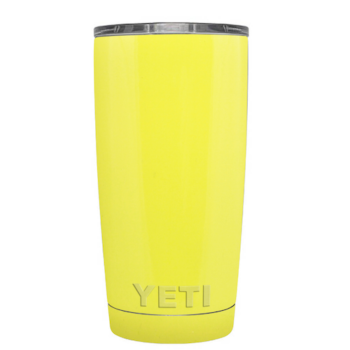 20 oz Powder Coated YETI Tumbler - Sunny Yellow