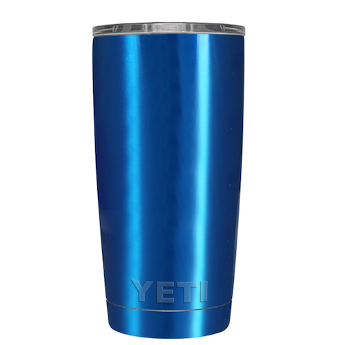 20 oz Powder Coated YETI Tumbler - Blue Chrome