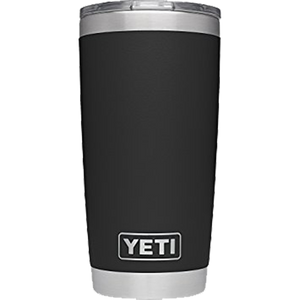 20 oz Powder Coated YETI Tumbler - Black (Direct-Factory)
