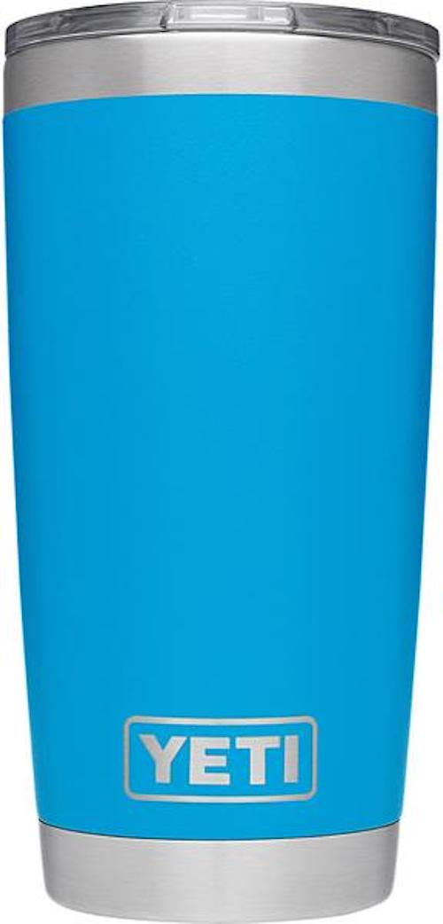 20oz Powder Coated YETI Tumbler - Tahoe Blue