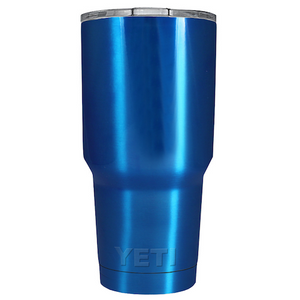 30 oz Powder Coated YETI Tumbler - Blue Chrome