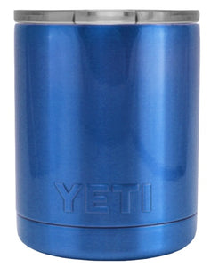 10 oz Powder Coated YETI- Blue Chrome Lowball