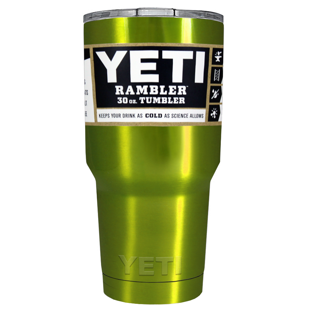 30 oz Powder Coated YETI Tumbler - Electric Green