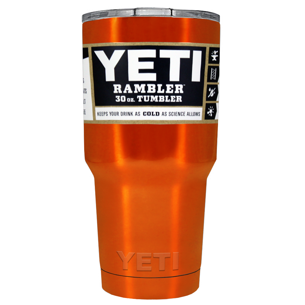 30 oz Powder Coated YETI Tumbler - Electric Orange