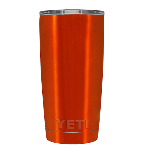 20 oz Powder Coated YETI Tumbler - Electric Orange