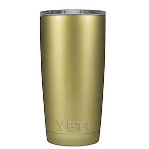 20 oz Powder Coated YETI Tumbler - Gold