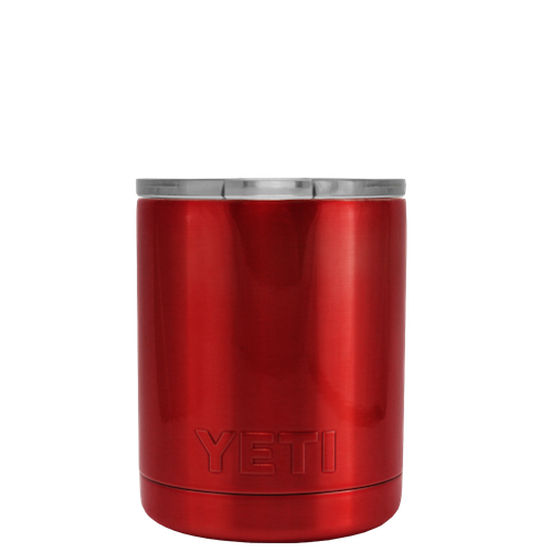 10oz Powder Coated YETI- Red Chrome