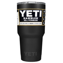 30 oz Powder Coated YETI Tumbler - Tact Black