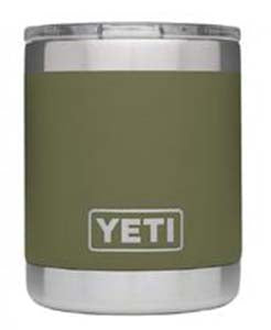 10 oz Powder Coated YETI- Olive Lowball