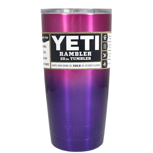 20oz Powder Coated YETI Tumbler - Purple & Pink