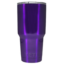 30 oz Powder Coated YETI Tumbler - Purple Sparkle