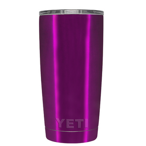 20oz Powder Coated YETI Tumbler - Raspberry